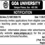 Goa University hires for the teaching posts