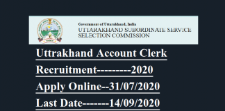 Uttrakhan Account Clerk