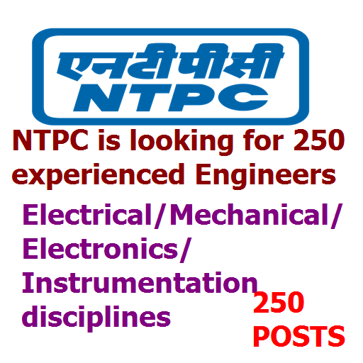 ntpc recruitment for experienced engneers