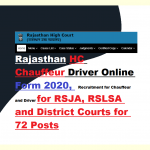 rajasthan high court driver