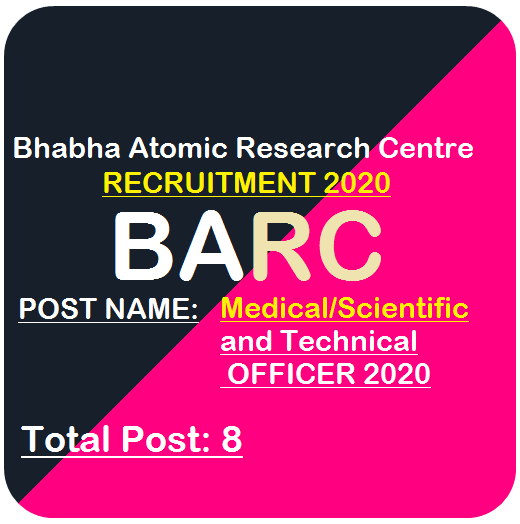 BARC Medical and Technical Officer