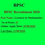 BPSC Maths Lecturer