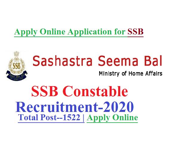 SSB Constable Recruitment 2020