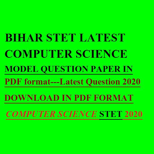 bihar stet computer science question paper PDF 2020