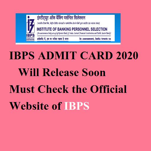 ibps admit card 2020