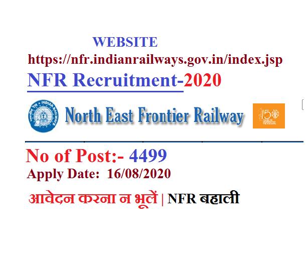 nfr railway recruitment