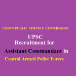 upsc Assistant Commandant