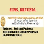 AIIMS Bhatinda Punjab Professor Recruitment 2020