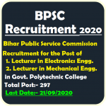 BPSC Lecturer in Mechanical and Electronics Engineering