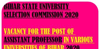 BSUSC Assistant Professor Post