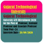 GTU Professor Recruitment 2020