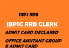 IBPS RRB Clerk Admit Card 2020