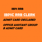 IBPS RRB Clerk Admit Card 2020