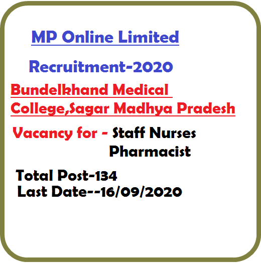 MP Staff Nurse Pharmacist in BMC