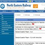 North Eastern Railway PGT TGT Recruitment