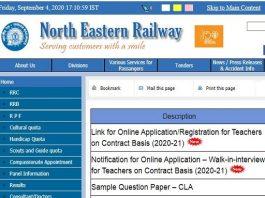 North Eastern Railway PGT TGT Recruitment