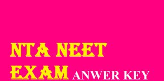 NTA NEET Answer Key 2020