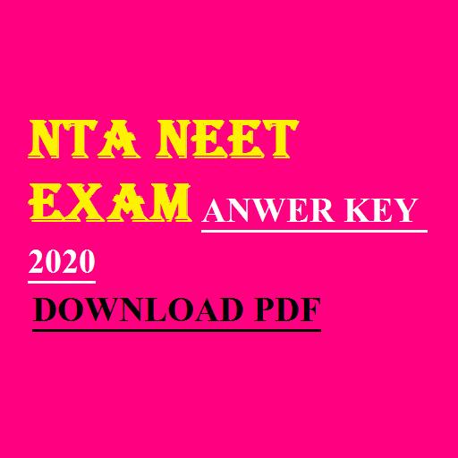 NTA NEET Answer Key 2020