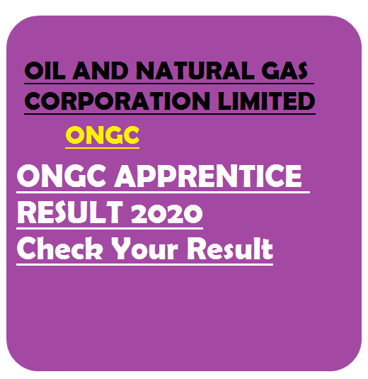 ONGC Apprentice Result 2020