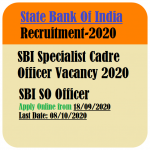 SBI Specialist Cadre Officers Recruitment