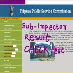 TPSC Sub Inspector Interview Result