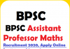 BPSC Assistant Professor Maths Recruitment 2020