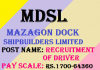 Mazagon Dock Driver Recruitment 2020.