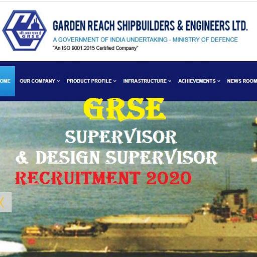 GRSE Supervisor Recruitment 2020