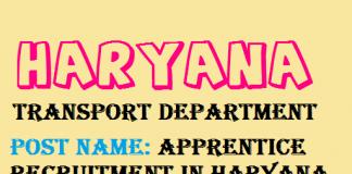 New Notification for Haryana Transport Recruitment 2020.