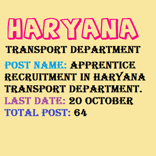 New Notification for Haryana Transport Recruitment 2020.
