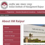 IIM Raipur Recruitment 2020