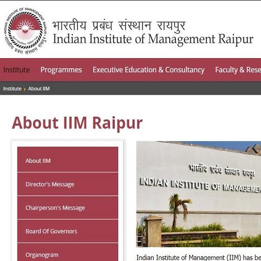 IIM Raipur Recruitment 2020
