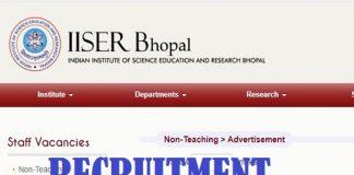 IISER Bhopal Recruitment 2020