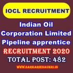 IOCL Pipeline apprentice vacancy
