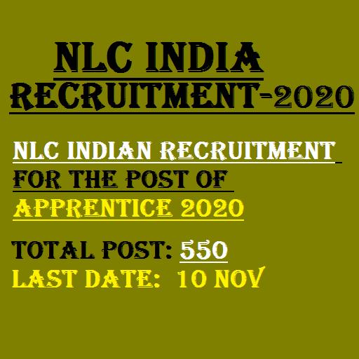 NLC India Apprentice Recruitment 2020