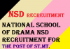 NSD Recruitment 2020