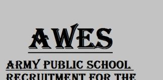 Recruitment 2020 in Army Public School