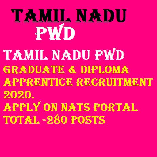 Tamil Nadu PWD apprentice