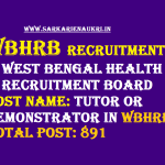 WBHRB tutor or demonstrator recruitment