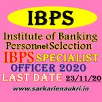 IBPS Specialist officer CRP SPL X