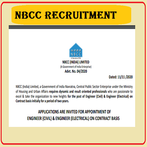 NBCC India Engineers recruitment 2020