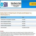 SBI Probationary Officer Po 2020