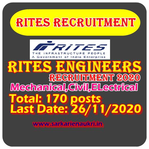 RITES Engineer 2020