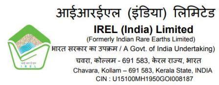 IREL Recruitment 2020