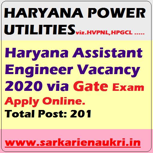 Haryana assistant Engineer 2020