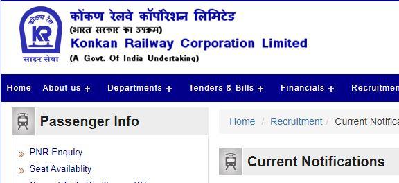 Konkan Railway Junior Engineer Recruitment