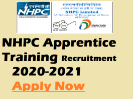 NHPC Apprentice Recruitment 2020