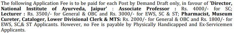 National Institute of Ayurveda NIA Recruitment 2021