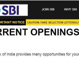 SBI Specialist Officer SO Recruitment 2020