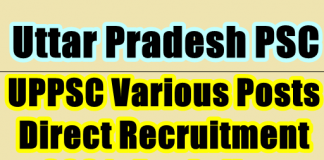 UPPSC direct recruitment for various posts 2021-21